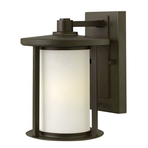 "Hinkley Lighting 1910-GU24 9.75"" Height 1 Light Lantern Fluorescent Outdoor Wall Sconce from the Hudson Collection"
