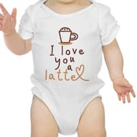 Love A Latte Infant Bodysuit Gift White