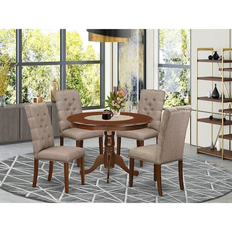 Modern kitchen set- 4 Kitchen Parson Chair and A dinner table- High back (Finish and Pieces Option)