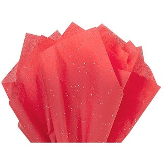 "Pack Of 200, Solid Ruby Red Gemstone Tissue Paper 20"" X 30"" Sheets For Christmas, Valentine's Day & Patriotic Packaging"