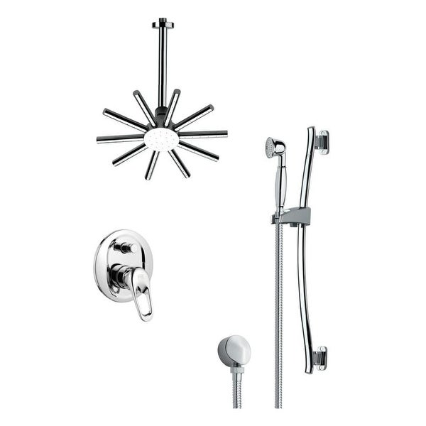Nameeks SFR7088 Remer 2.5 GPM Multi Function Rain Shower with Handshower, Slide Bar and Rough In - Chrome