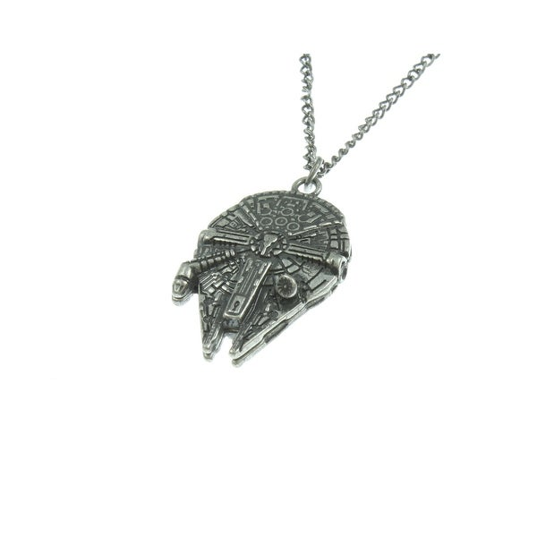 Star Wars Millenium Falcon 3D Mold Necklace - Silver