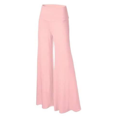 Women's Solid Color Wide Leg Pants Casual Pants S-4X