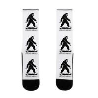 I Believe In Myself Bigfoot US Size 7-13 Socks by LookHUMAN