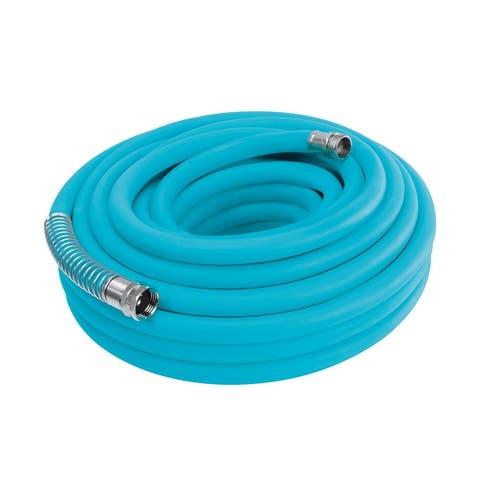 Aqua Joe AJPGH50-DWS 5/8 In 50 Ft. Hybrid Polymer FLEX Kink Free Hose - 50 Ft