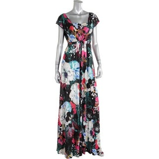 French Connection Womens Floral Print Sleeveless Maxi Dress - 4