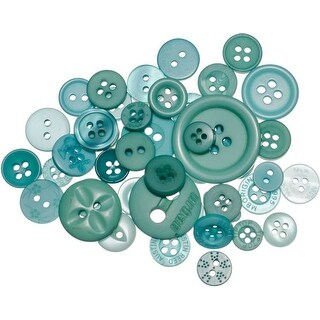 Bali Blue - Buttons Galore Button Mason Jars