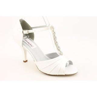 Dyeables Makayla Women Open-Toe Canvas White Heels