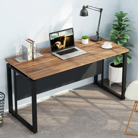 55 inches Computer Desk Office Desk Table for Home Office with Clean Design