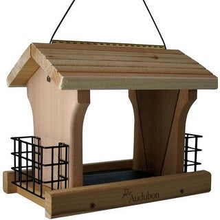 Woodlink NARANCH3 Audubon Ranch Bird Feeder with Suet, Large, 5 lb