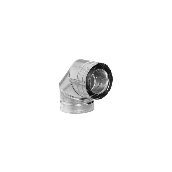"""Metalbest 4DT-EL90S 4"""" Inner Diameter - Direct-Temp Direct Vent Pipe - Double Wall - 90 Degree Elbow - Galvanized - N/A"""