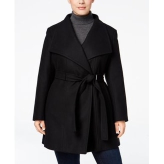 78809426dfba4 Shop Calvin Klein Plus Size Belted Walker Coat Black - Free Shipping Today  - Overstock - 20356161