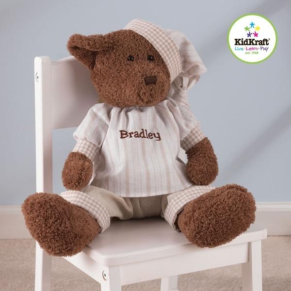 "KidKraft Boy Naptime Teddy Bear - Brown - 18""h x 11""w x 11""l. Opens flyout."