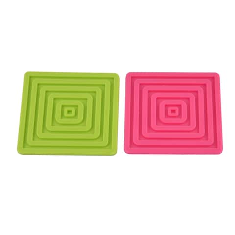 Silicone Square Table Heat Resistant Mat Cup Coaster Pad Placemat 2PCS