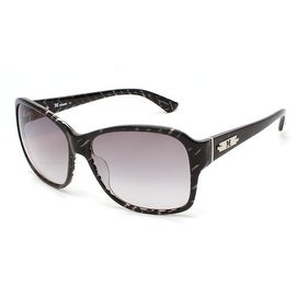 Missoni Women's Striped Oversized Sunglasses Black/Grey - Clear - Small