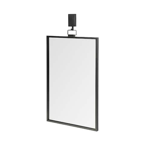 Mercana Grimm 24x43 Rectangular Dark Gray Metal Frame Mirror - 24.8L x 1.2W x 43.8H