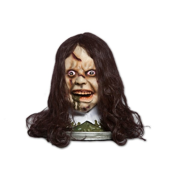 Exorcist Rotating Head Platter w/Light Up Eyes, Moving Mouth & Audio