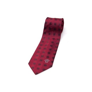 Versace Men Slim Silk Neck Tie CR8LSEB0319 0001 Red Burgundy