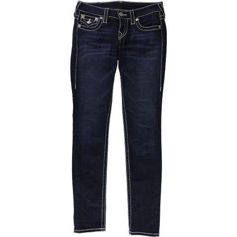 True Religion Womens Flap Skinny Fit Jeans, blue, 25