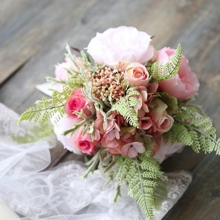 Wedding Bouquet Peach Pink Flower Bridal Bouquet