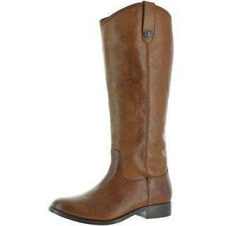 Frye Womens Melissa Button Riding Boots Leather Vintage