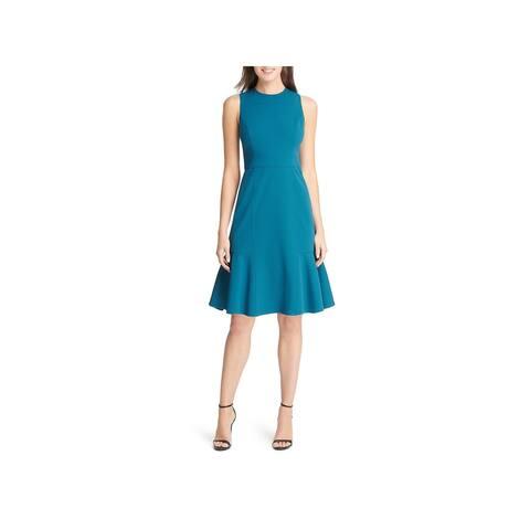 Eliza J Womens Wear to Work Dress Flounce Hem Sleeveless