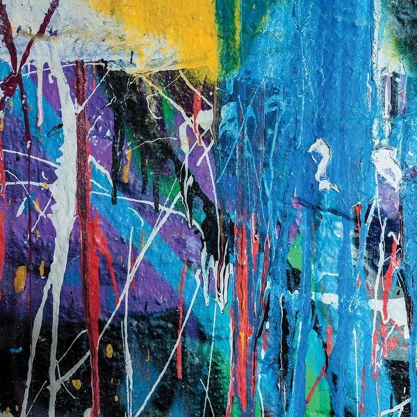 Ella Viv Graffiti Single Sided Cardstock X Paint Drip