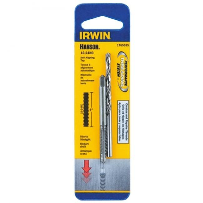 Irwin Tools 1765535 Hanson Self Aligning Tap And Drill Set, #10 x 24