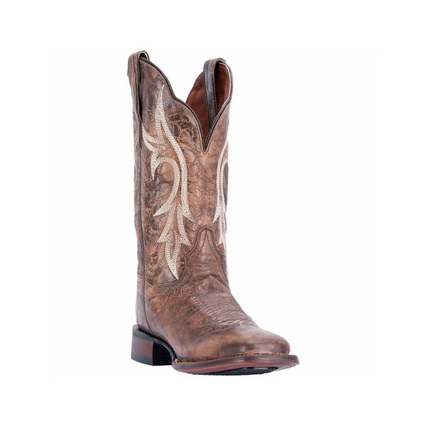Dan Post Western Boots Womens Reign Broad Square Stockman Brown