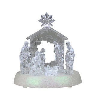 Link to LED Holy Family in Stable Christmas Nativity Scene 7.5 Inch Similar Items in Christmas Decorations