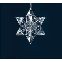 Roman 31420830 4.5 in. Icy Crystal Clear Snowflake Christmas Ornament