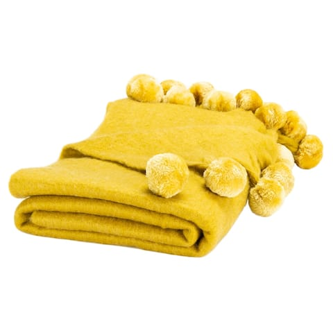 SAFAVIEH Shae 50 x 70-inch Pom Pom Throw Blanket