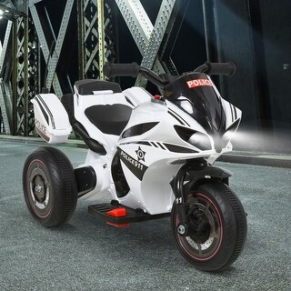 Link to AOSOM Kids Electric Police Motorcycle Ride On Toy 6V Battery Powered Electric Trike Toys for 18-36 Months w/ MP3 Police White Similar Items in Bicycles, Ride-On Toys & Scooters
