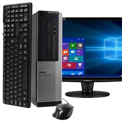 Dell 790 Intel i5 8GB 250GB HDD Windows 10 Home WiFi Desktop PC - Black