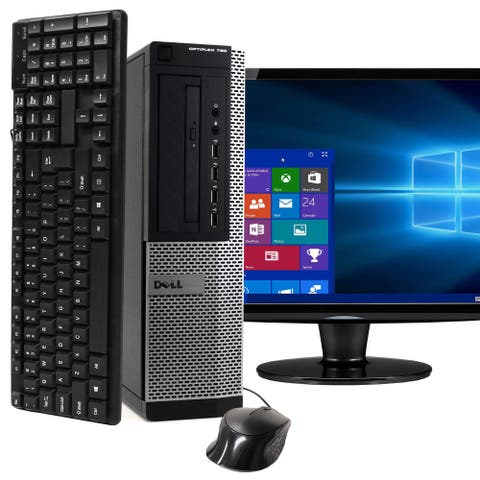 Dell 790 Intel i5 16GB 2TB HDD Windows 10 Pro WiFi Desktop PC - Black