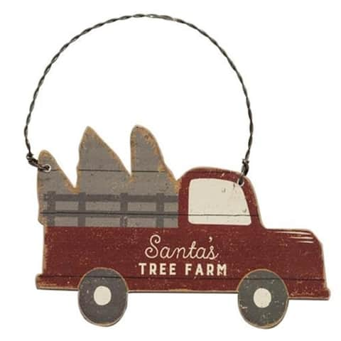 Santa's Tree Farm Truck Ornament