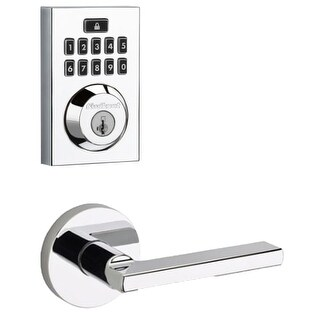Kwikset 913CNT-HFLRDT-S SmartCode Touchpad Electronic Deadbolt with Halifax Leve