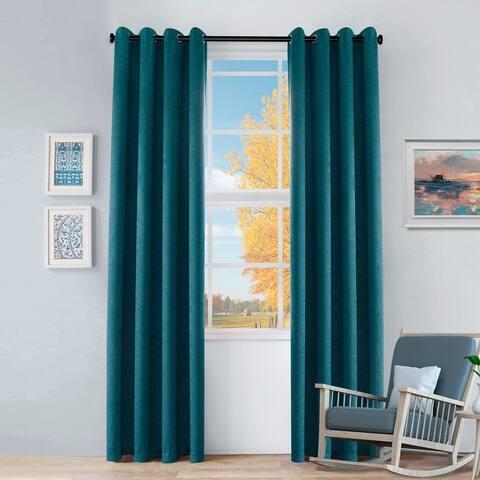 Miranda Haus Senna Insulated Thermal Blackout Grommet Curtain Panels