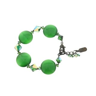 Dabby Reid Womens Ronnie Mae Hand Crafted Cats Eye Bracelet - Green