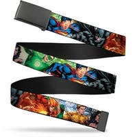 Blank Black  Buckle Justice League New 52 Superhero Action Poses Web Belt
