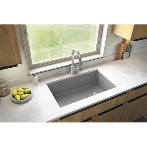 Karran Undermount Quartz Single Bowl Kitchen Sink