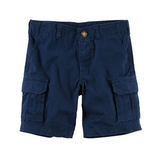 Carter's Little Boys' Cargo Shorts, Blue, 2-Toddler