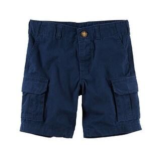 Carter's Little Boys' Cargo Shorts, Blue, 4-Toddler