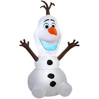 "Gemmy 12696 Christmas Airblown Sitting Olaf Inflatable, Fabric, 16-5/16"" x 16-5/16"" x 10-9/16"""