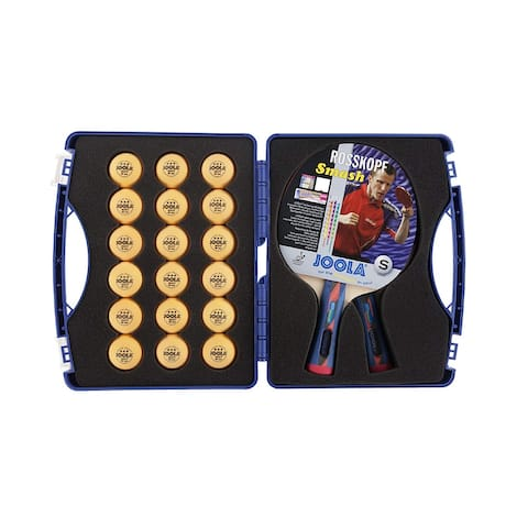 JOOLA Expert Table Tennis Tour Case with Two Rossi Rackets and balls / 56734 - Red