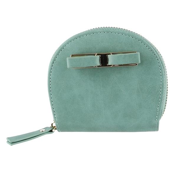 CTM® Women's Curve Compact Zip-Around Wallet - One size