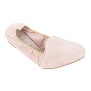 Brunello Cucinelli Light Mauve Suede Lurex Trimmed Ballet Flats