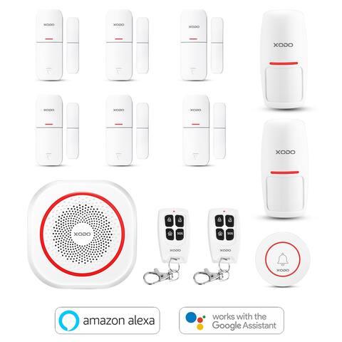 XODO PK5 Wi-Fi Smart Home Security System, Alexa & Google Assistant, PIR Motion Sensor, Door/Window Alarm Sensor, Bundle Kit