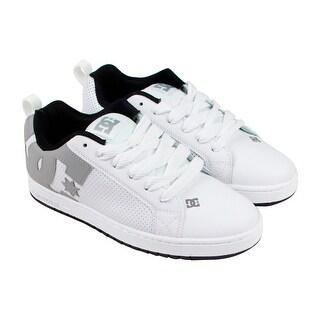 Dc Court Graffik Mens White Canvas Lace Up Lace Up Sneakers Shoes