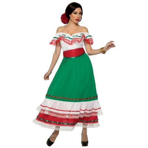 Forum Novelties Fiesta Party Dress Adult Costume (X-Large) - X-Large
